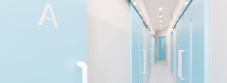 トイトイトイクリニック原宿院施術室廊下