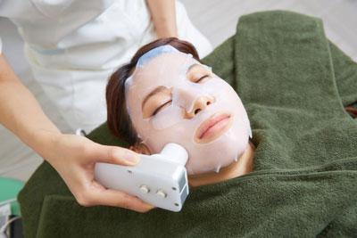 顔脱毛処置後のオプションケア