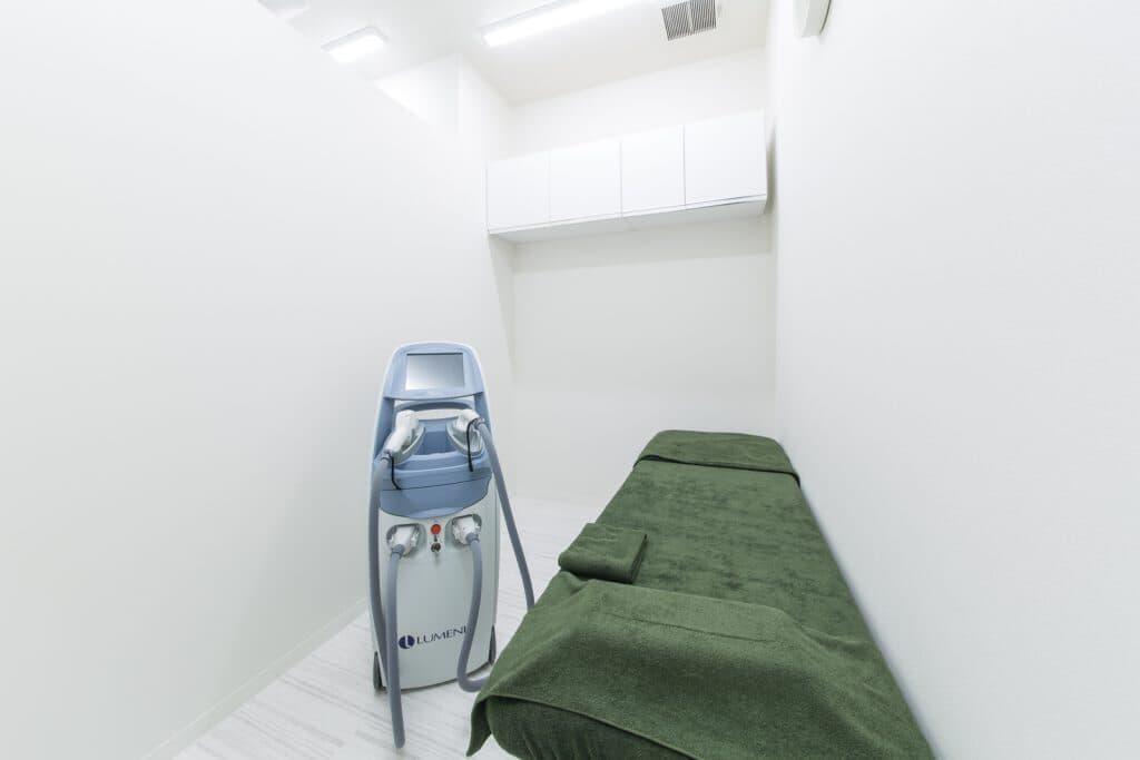医療レーザーの不安、緊張を和らげる当院の配慮「プライバシーを配慮した施術ルーム」