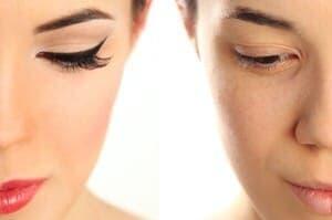 顔脱毛をする前の化粧について